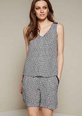 Casual crêpe playsuit from s.Oliver