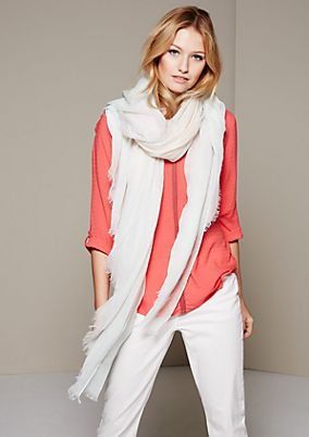 Delicate scarf in a colour block design from s.Oliver