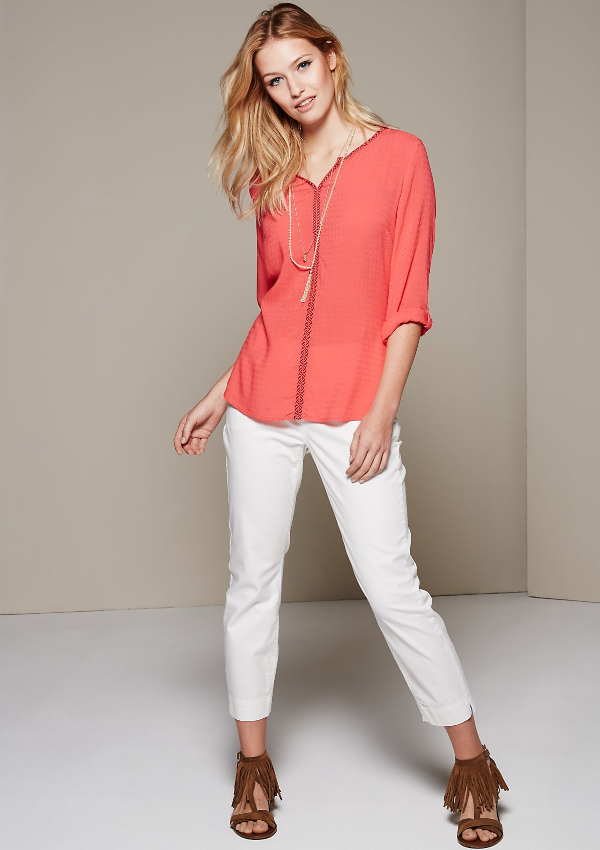 Casual summer blouse with a beautiful pattern from s.Oliver