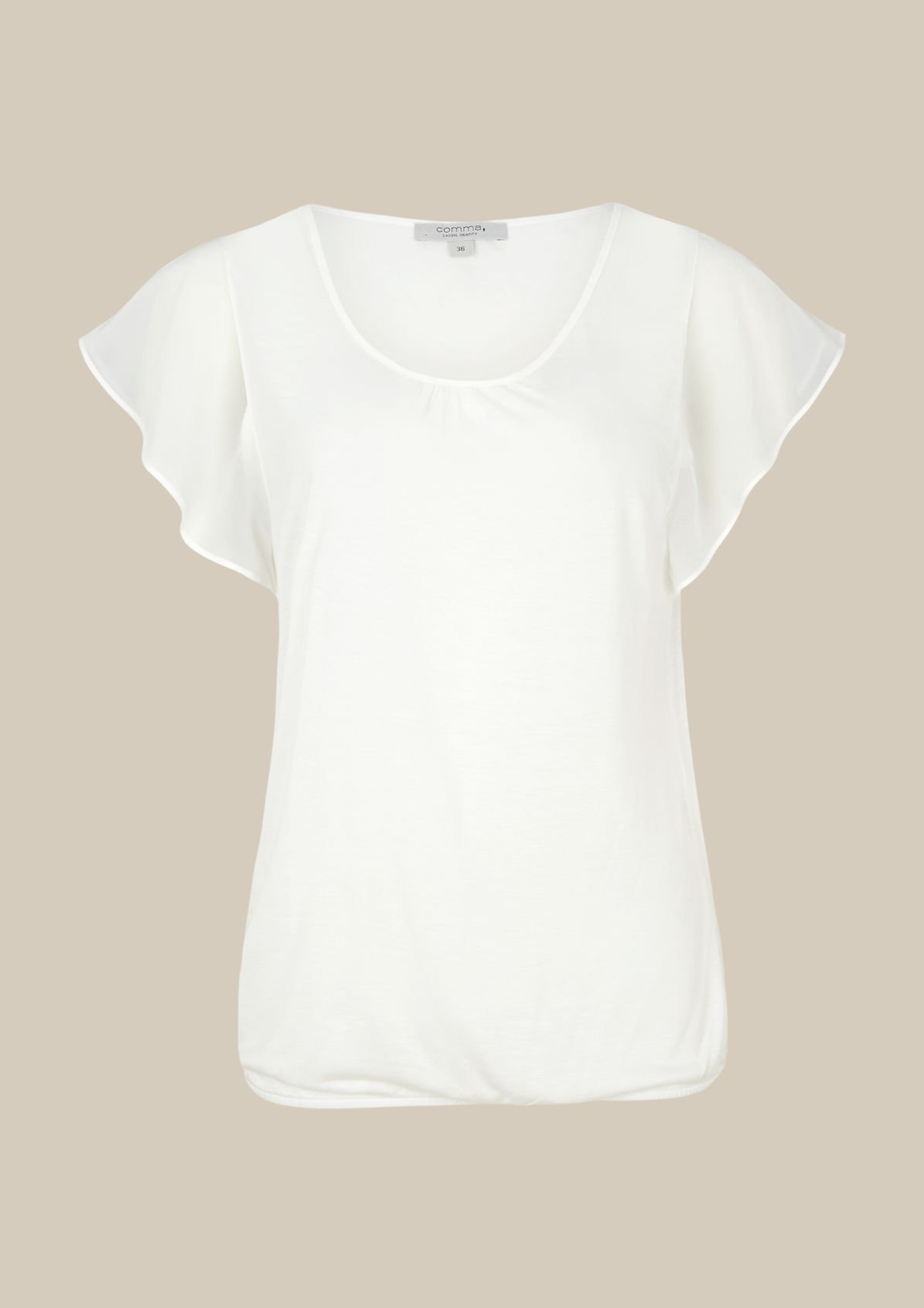 Casual jersey top with short sleeves from s.Oliver