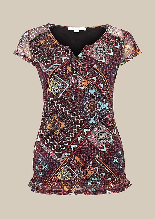 Delicate mesh top with a fascinating all-over pattern from s.Oliver