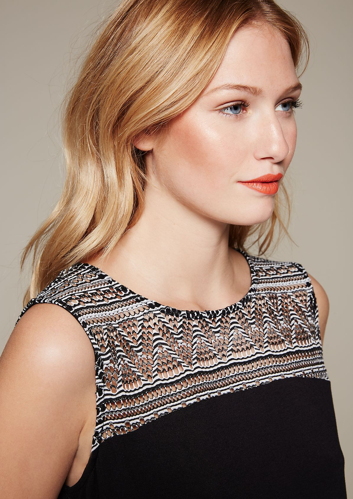 Beautiful summer top with a sophisticated openwork pattern from s.Oliver