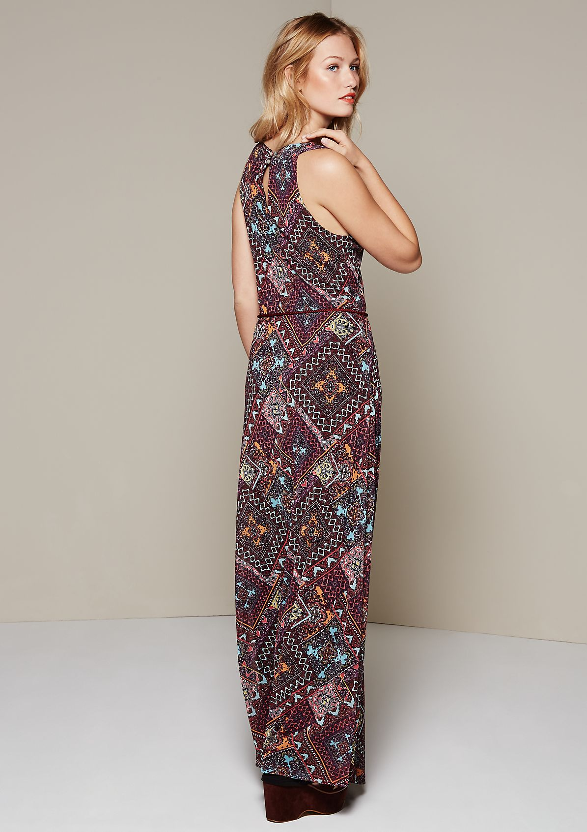 Lightweight mesh dress with an artistic all-over pattern from s.Oliver