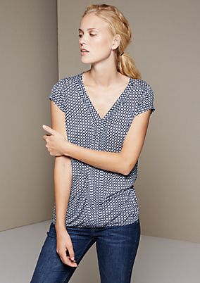 Casual short sleeve top with a sophisticated all-over print from s.Oliver
