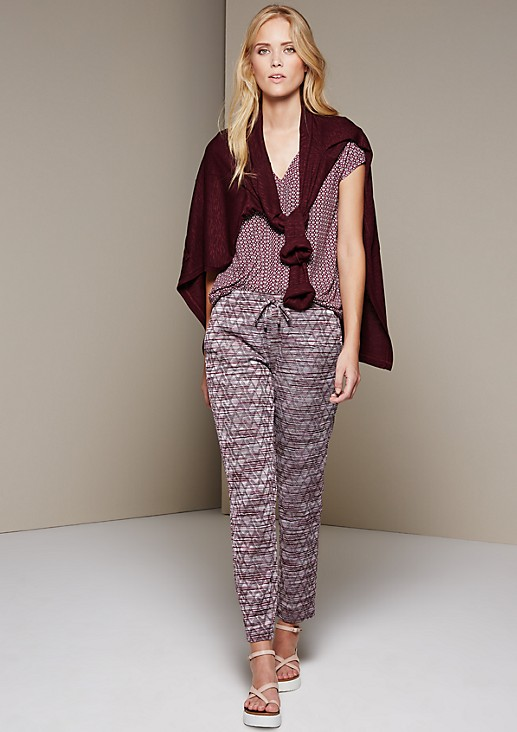 Extravagant, casual trousers with a fabulous pattern from s.Oliver