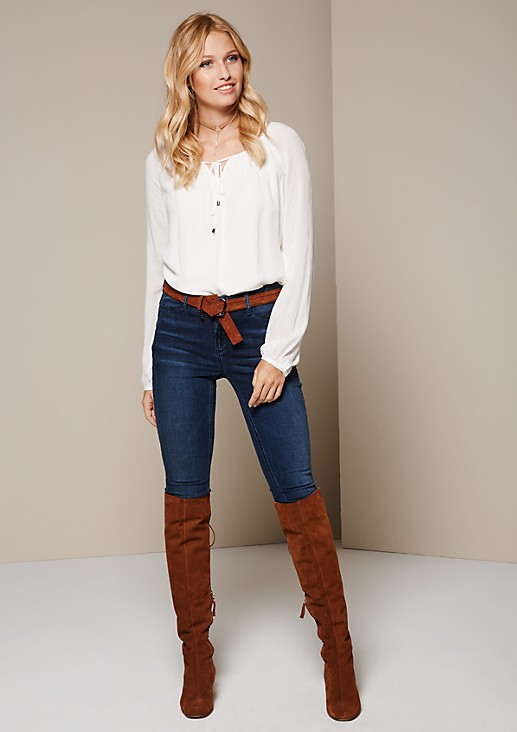 Delicate long sleeve blouse with fabulous details from s.Oliver