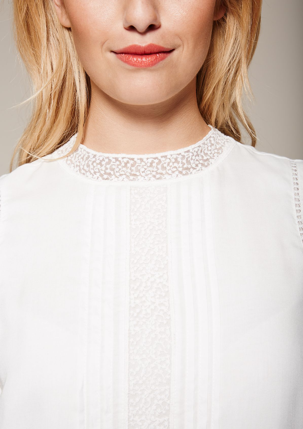 Glamorous top with delicate lace elements from s.Oliver
