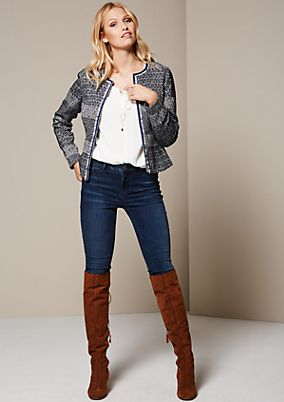 Glamorous blazer with a decorative pattern from comma