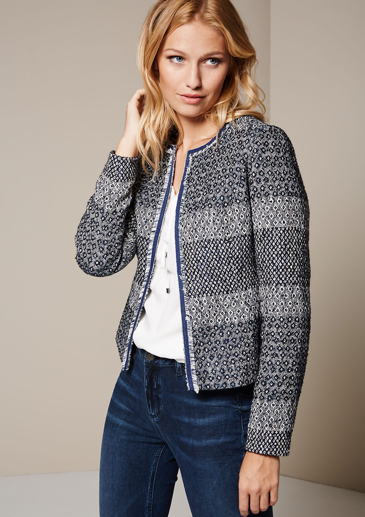 Glamorous blazer with a decorative pattern from s.Oliver