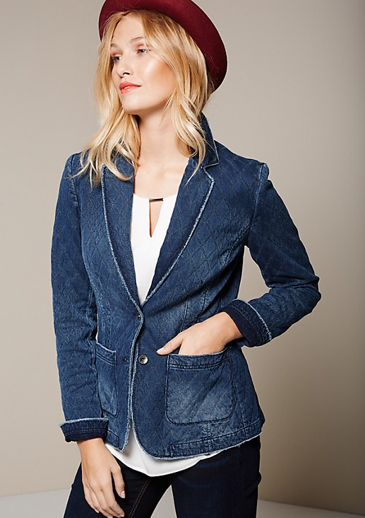 Sporty denim blazer in a vintage look from s.Oliver