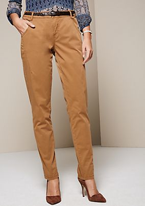 Sporty trousers with sophisticated details from comma