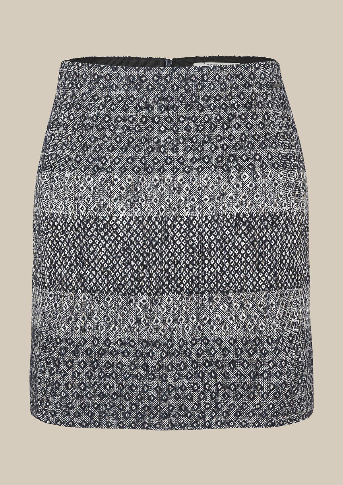 Schöner Freizeitrock mit liebevoll gestaltetem Jacquardmuster