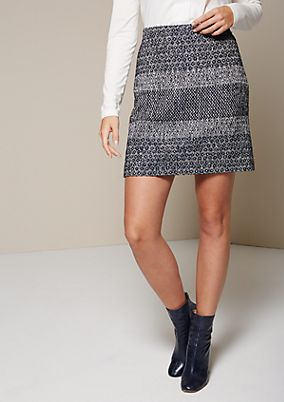 Beautiful, casual skirt with a lovely jacquard pattern from comma