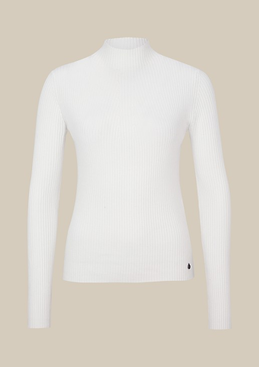 Elegant long sleeve jumper in a rib knit look from comma