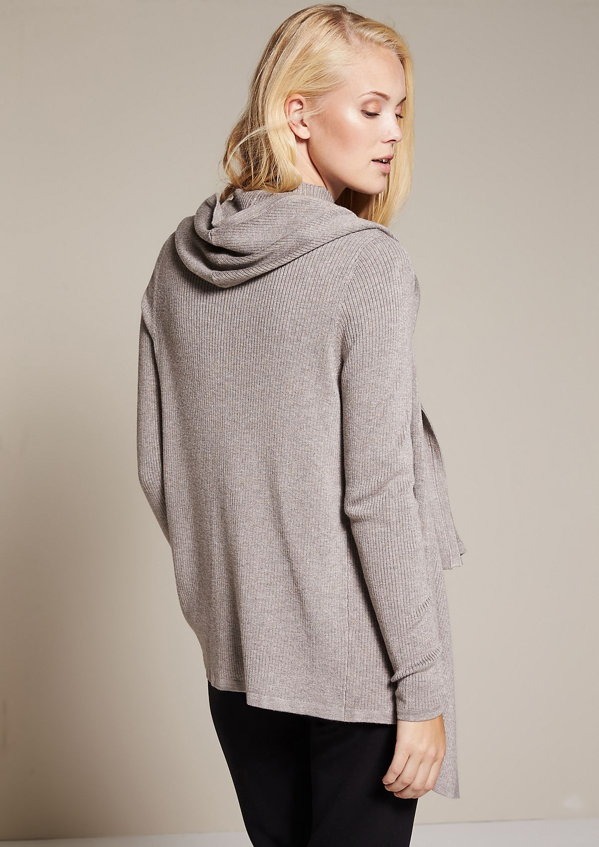 Casual cardigan with a hood from s.Oliver