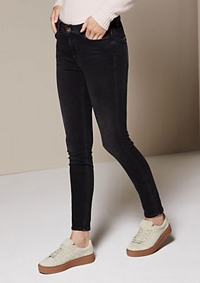 Sporty jeans in a vintage look from comma