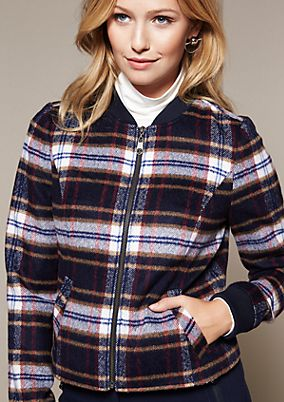 Lightweight jacket with a beautiful check pattern from comma