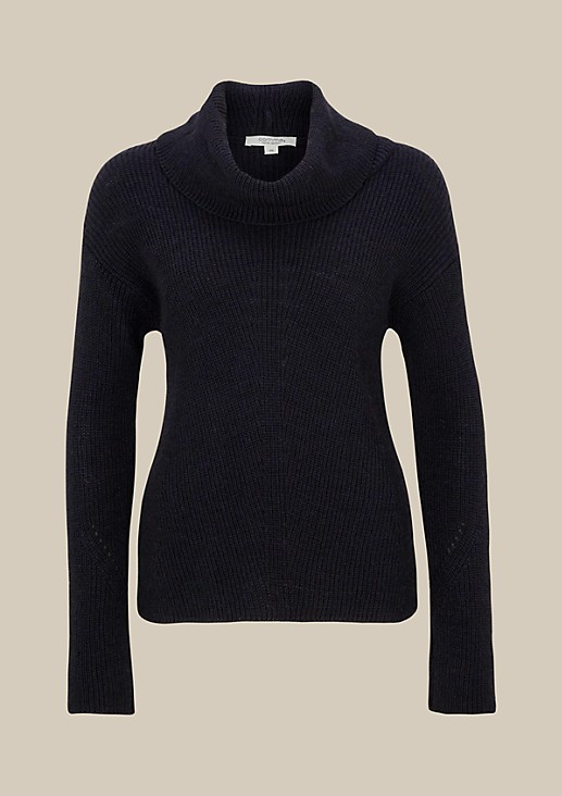 Cosy knit jumper with a high roll neck from comma