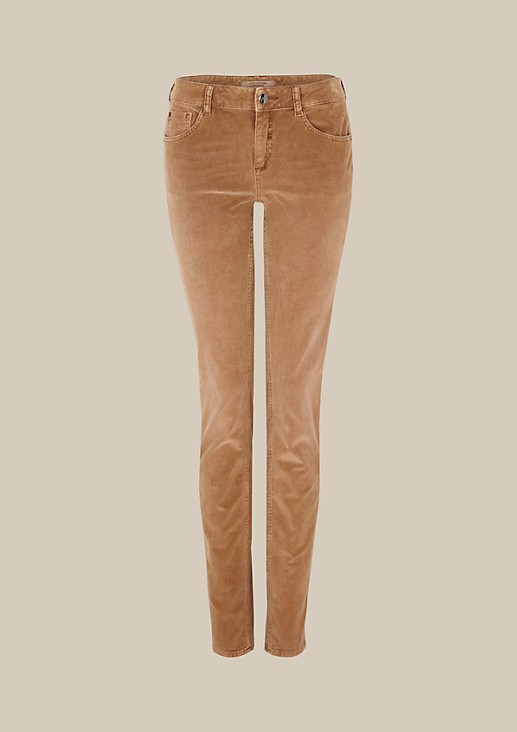 Sporty needlecord jeans with sophisticated details from comma