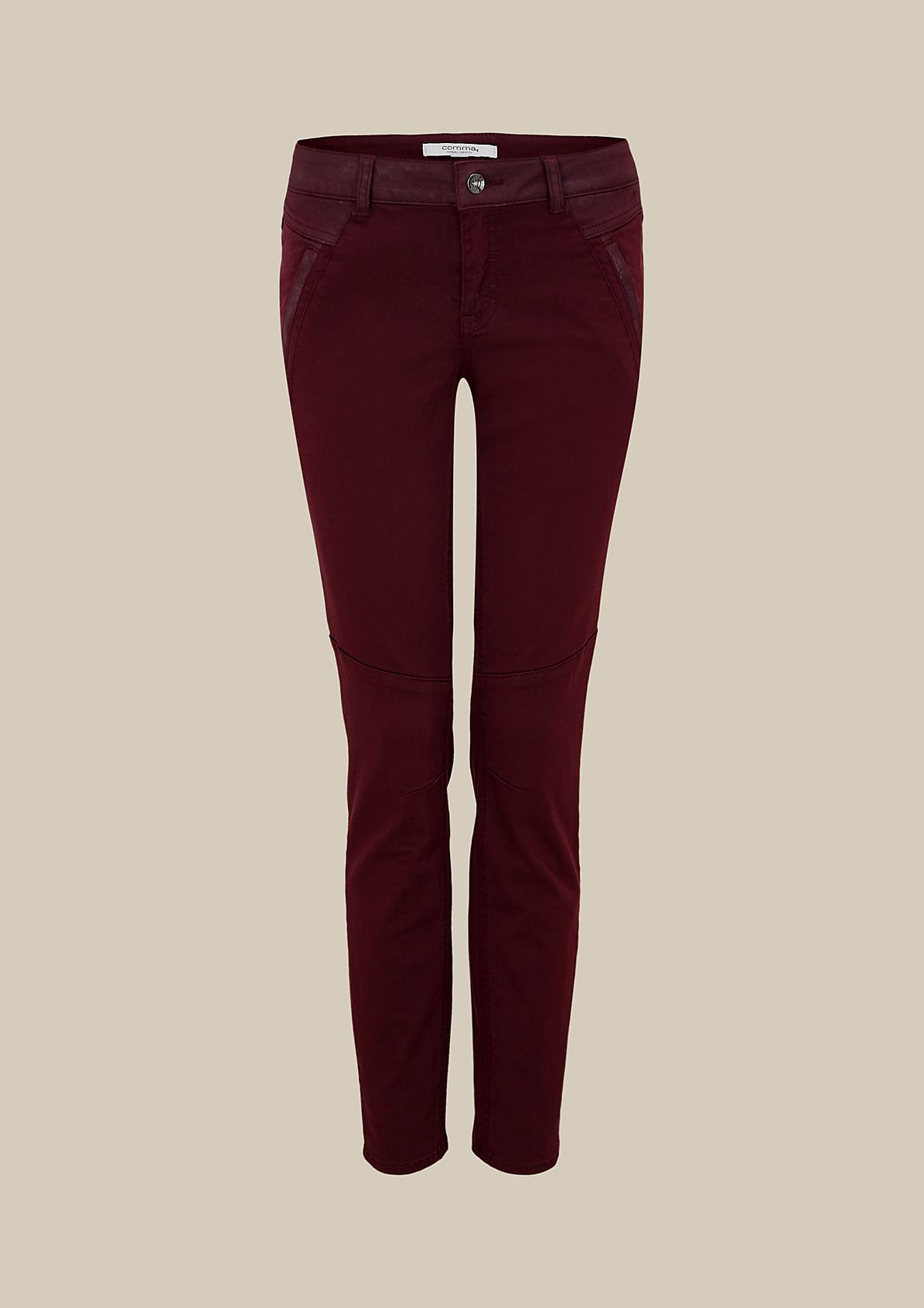 Casual trousers with extravagant detailing from comma