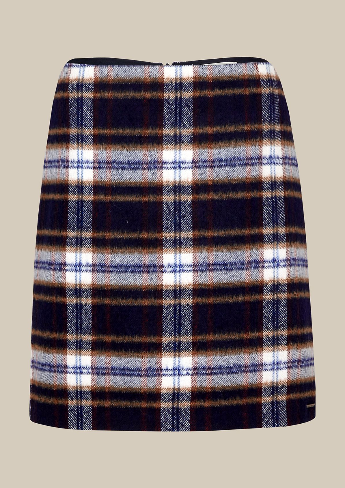 Elegant short skirt with a check pattern from comma