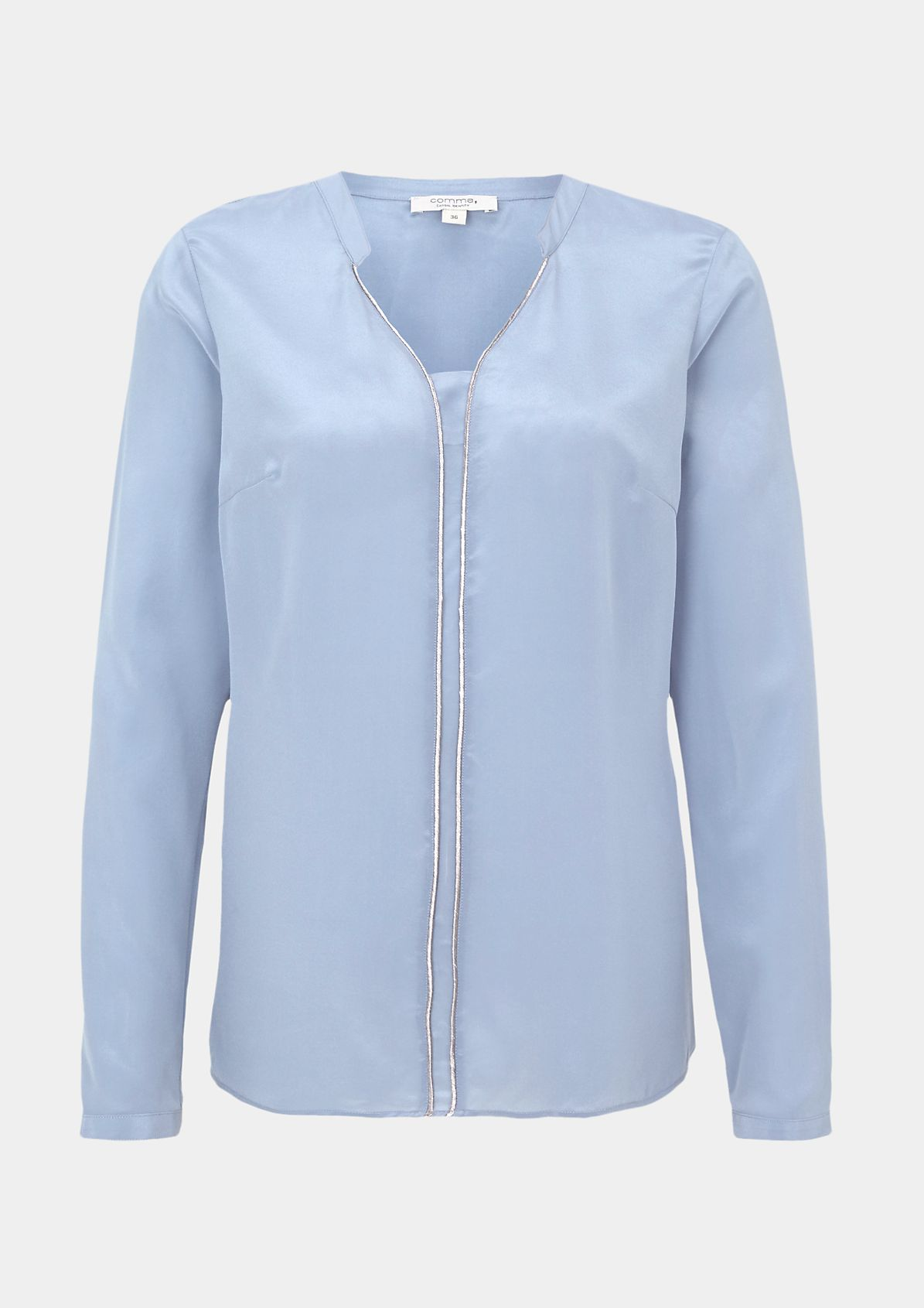 Delicate silk blouse with sophisticated details from comma
