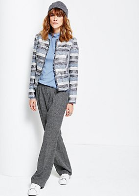 Elegant blazer with an exciting striped pattern from s.Oliver