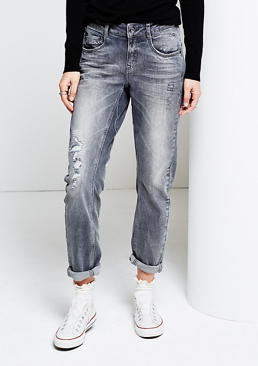 Klassische 5-Pocket Jeans im angesagten Vintage-Look