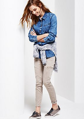 Casual long sleeve blouse in a denim look from s.Oliver