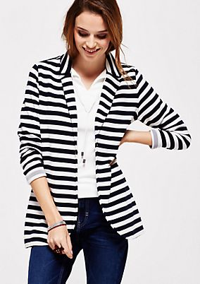 Casual jacket with a classic striped pattern from s.Oliver