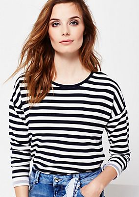 Soft long sleeve top in a ribbed look from s.Oliver