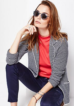 Casual knit blazer in a two-tone design from s.Oliver