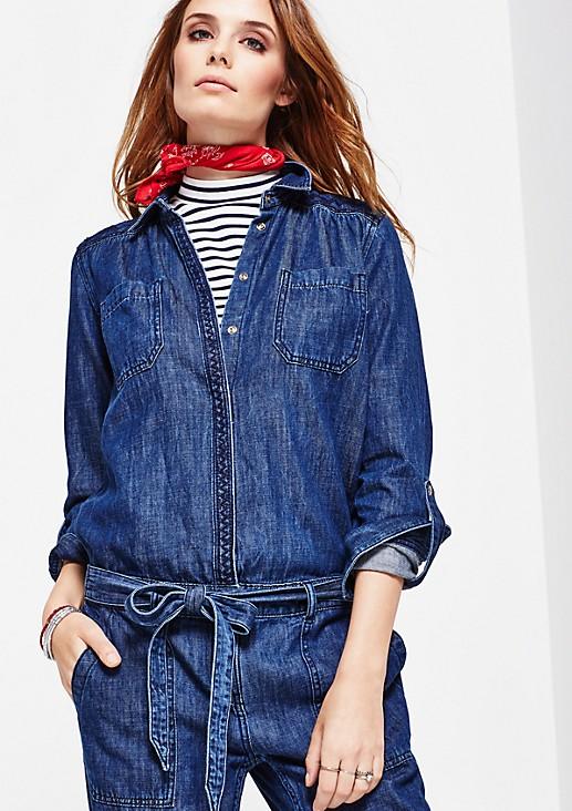 Lässiger Jeans-Jumpsuit im Used-Look