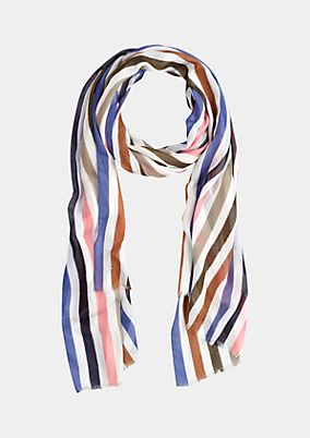 Delicate scarf with a smart striped pattern from s.Oliver