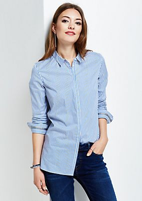 Business blouse with elegant striped pattern from s.Oliver