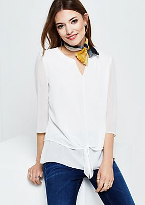 Delicate mock layer crêpe blouse from s.Oliver