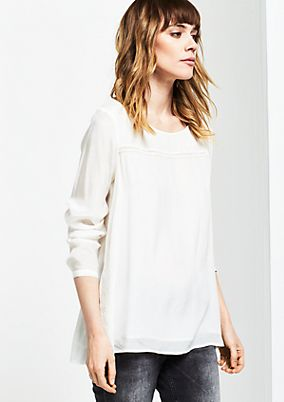 Delicate long sleeve blouse in a layered look from s.Oliver