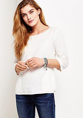 Lässige 3/4-Arm Bluse mit raffinierten Taschendetails