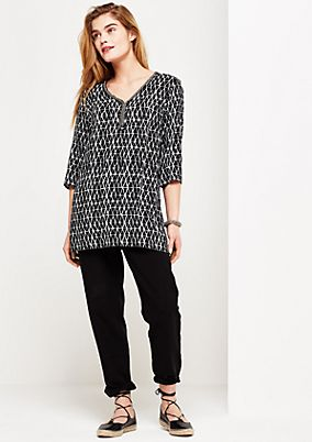 3/4-sleeve blouse with an exciting all-over pattern from s.Oliver