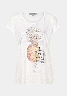 Klassisches Jersey-Shirt mit Frontprint