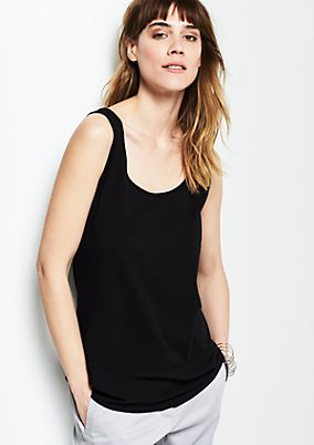 Sporty vest top in blended fabric from s.Oliver