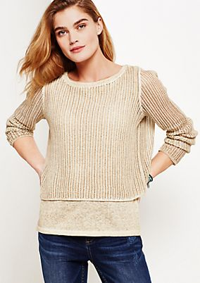 Short knit jumper in a vintage wash from comma