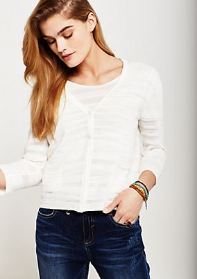 Classic cardigan with 3/4-length sleeves from comma