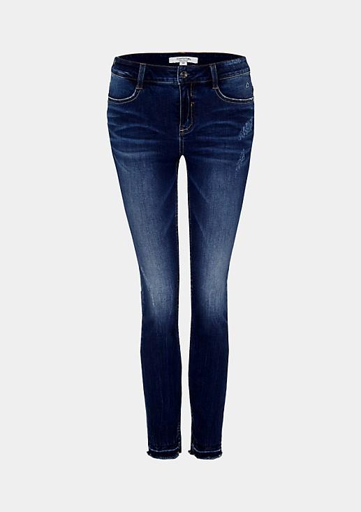 Schmal geschnittene Jeans in Used-Optik
