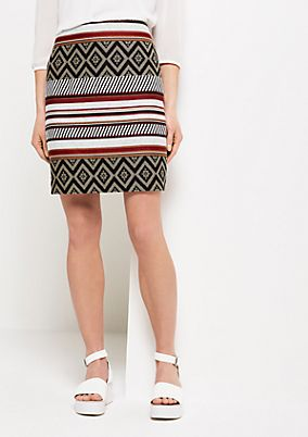 Short business skirt with a colourful pattern mix from s.Oliver