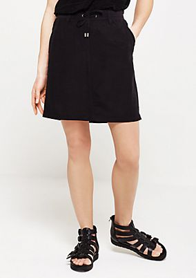 Short casual skirt with ties from s.Oliver