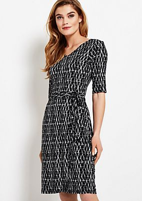 Casual jersey dress with an elaborate all-over print from s.Oliver