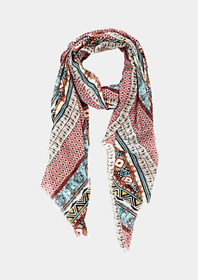 Casual scarf with a beautiful all-over pattern from s.Oliver