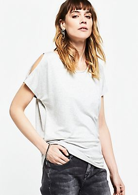 Jersey short sleeve top with dropped shoulders from s.Oliver