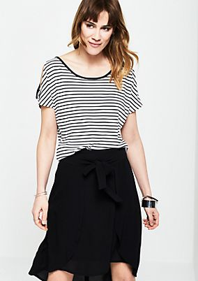 Short sleeve jersey top with a classic striped pattern from s.Oliver